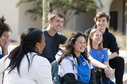 Photo of students smiling