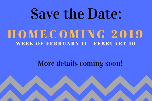 CCGA Homecoming is the week of Feb 11th through the 16th, join us!